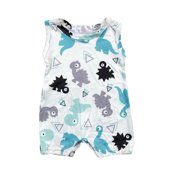 Dinosaur Shorty Romper