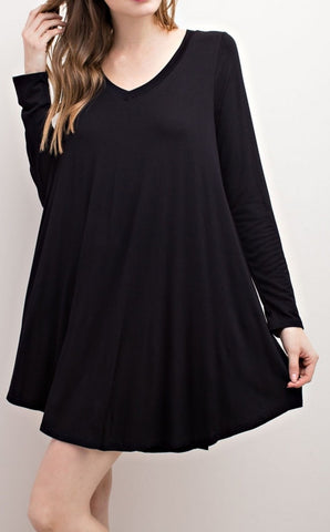 The Basic Layer Dress - Black