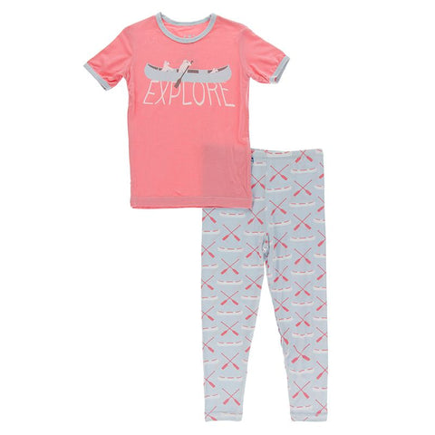 Graphic Tee PJ Set - Dew Paddles & Canoe