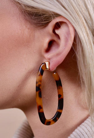 Bullock Resin Hoop Earring