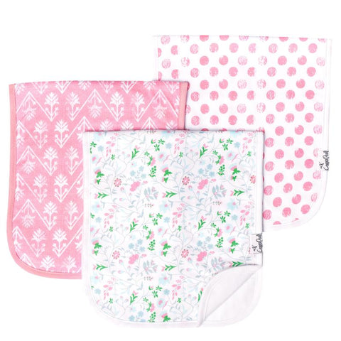 Burp Cloth Set, Claire