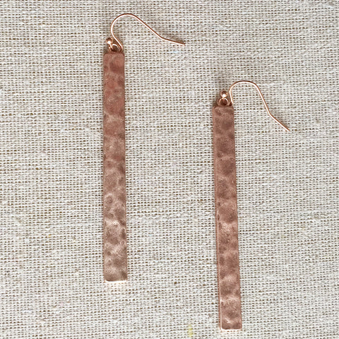 Hammered Drop Earring