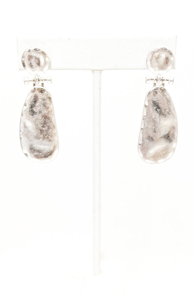 Emory Earrings - Worn Silver