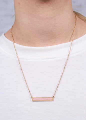 Fillmore Bar Necklace - Pink