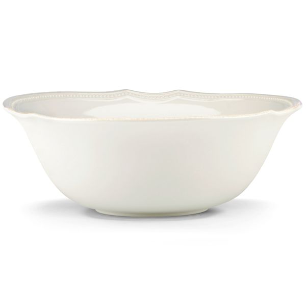 French Perle Bead Serving Bowl