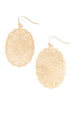 Gabby Earrings - Matte Gold