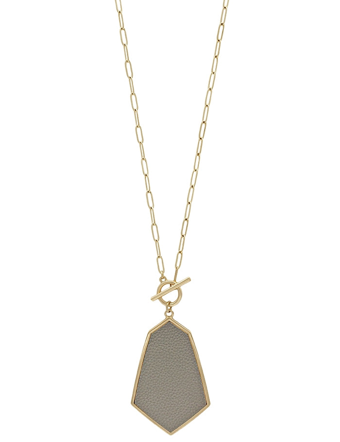 Grey Toggle Necklace