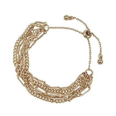 Chain Drawstring Bracelet - Gold