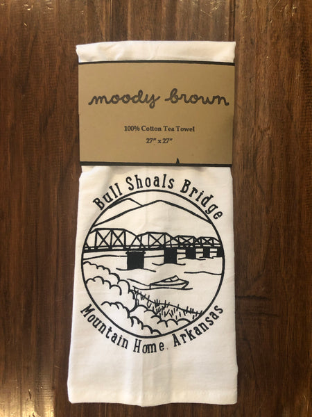 Moody Brown Tea Towel