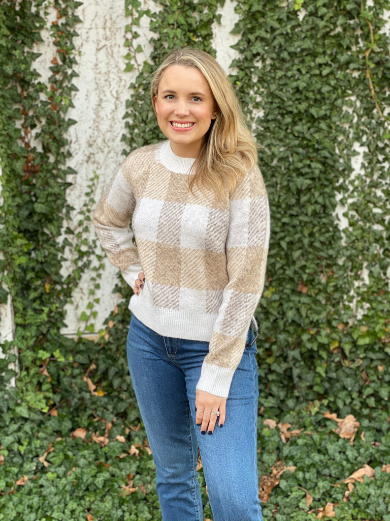 The Sandy Plaid Sweater