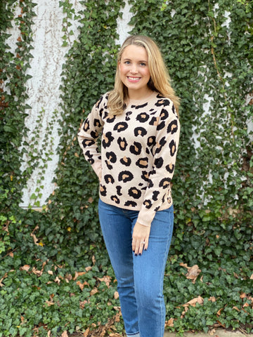 The Jackie Leopard Pullover