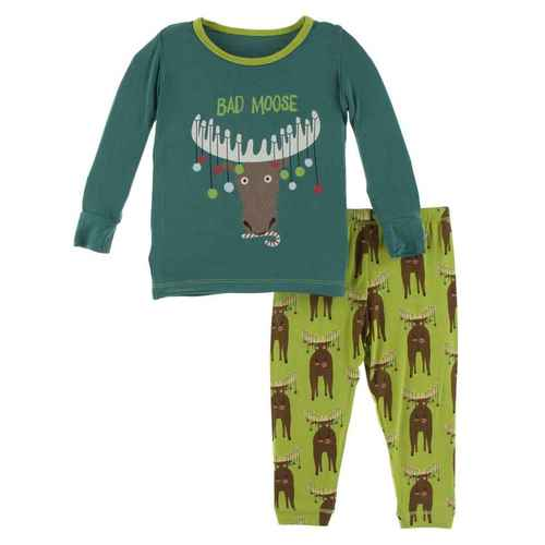 L/S Pajama Set - Meadow Bad Moose
