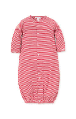 Kissy Kissy Converter Gown, Red Stripe
