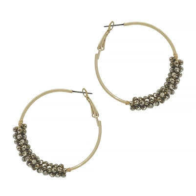 The Crystal Wrap Earring - Light Mocha