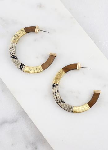 Marci Wood Earring