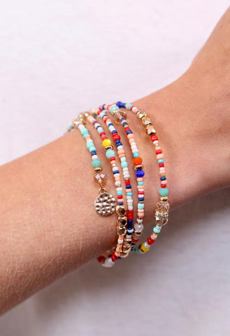 Marla Beaded Coil Bracelet - Multi