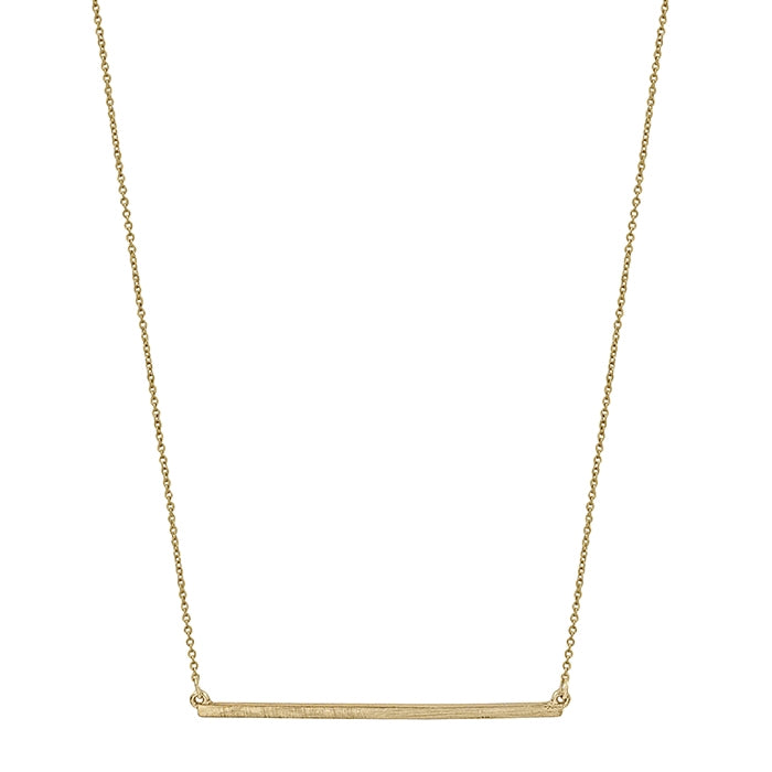 Matte Gold Bar Necklace