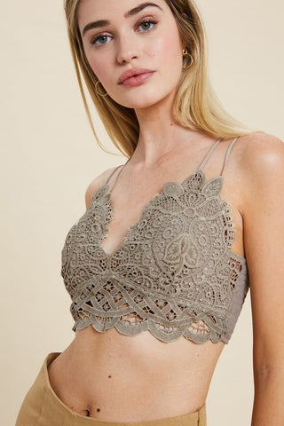 The Doily Lace Bralette - Mocha