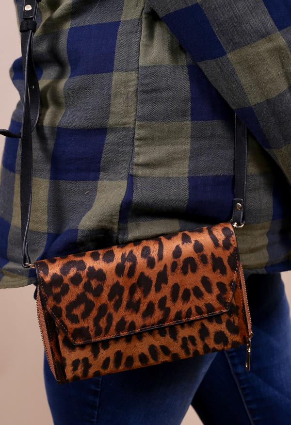 Saten Leopard Crossbody