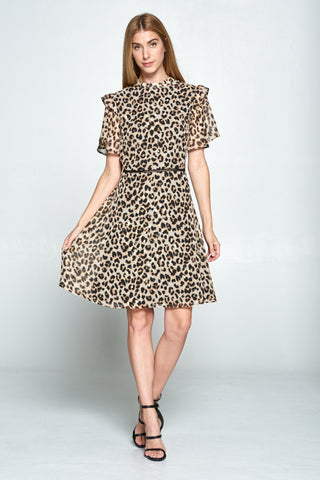 The Leopard Lurex Dress
