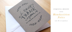 'The Handwritten Note' – Etiquette & Meaning