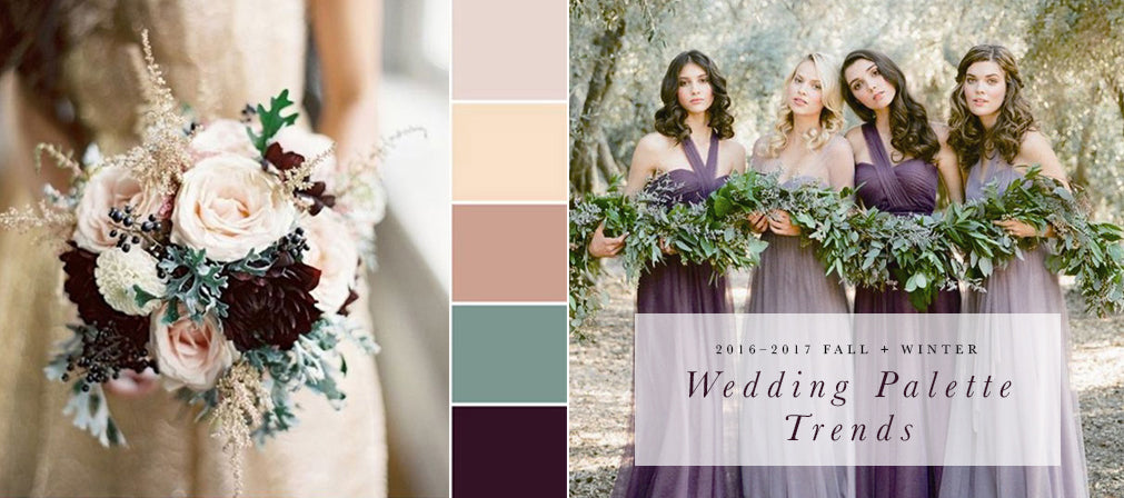 2016 2017 Fall Winter Wedding Color Trends Pom Paperie