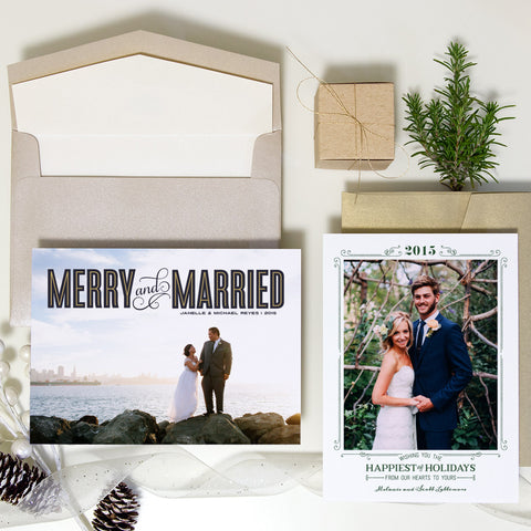 Merry & Married Holiday Card
