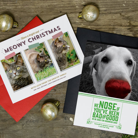 Pet Photo Holiday Cards