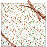 Holiday Confetti Flurry Stone Paper Gift Wrap Roll