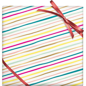 Multi-Color Diagonal Stripes Stone Gift Wrap Roll