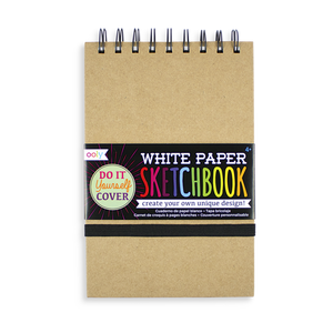 White Paper DIY Cover Sketchbook
