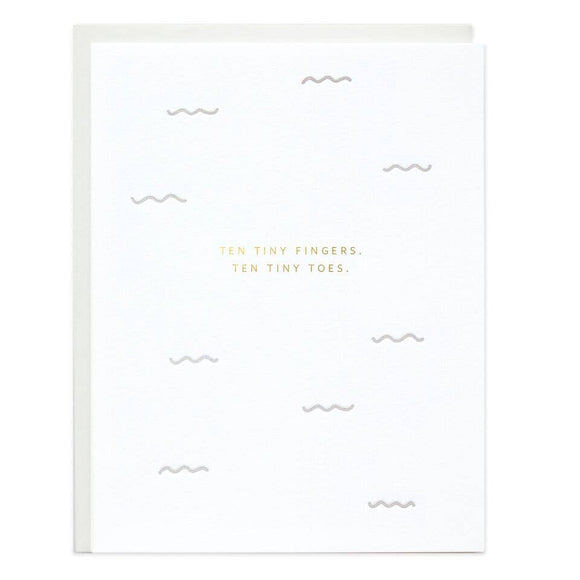 Ten Tiny Fingers Greeting Card