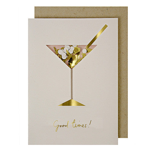 Cocktail Confetti Shaker Card