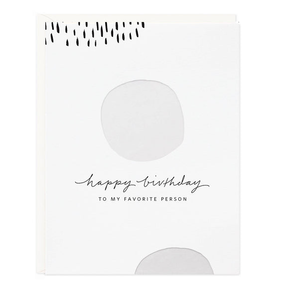 Birthday White Dots Greeting Card