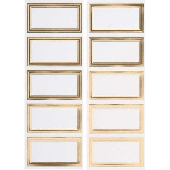 Gold Foil Rectangle Sticker Tags