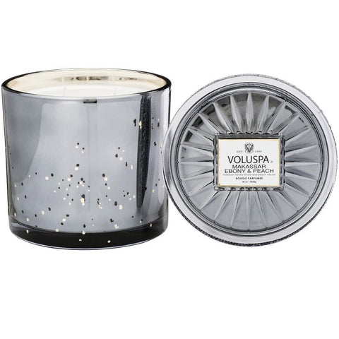 Makassar Ebony and Peach Grande Maison Candle with Lid