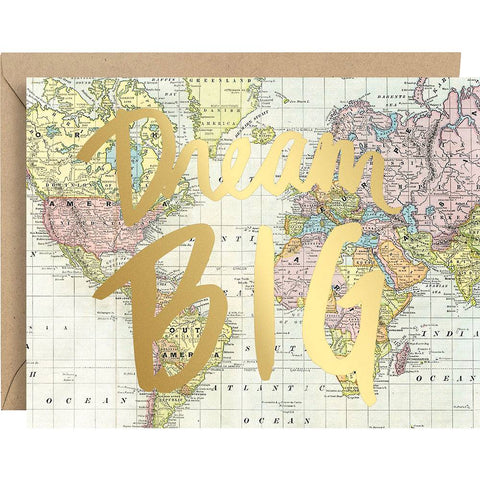 Dream Big Foil Graduation Card
