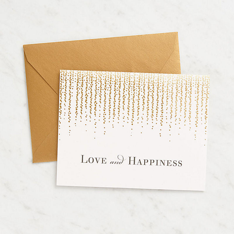 Love and Happiness Foil Card