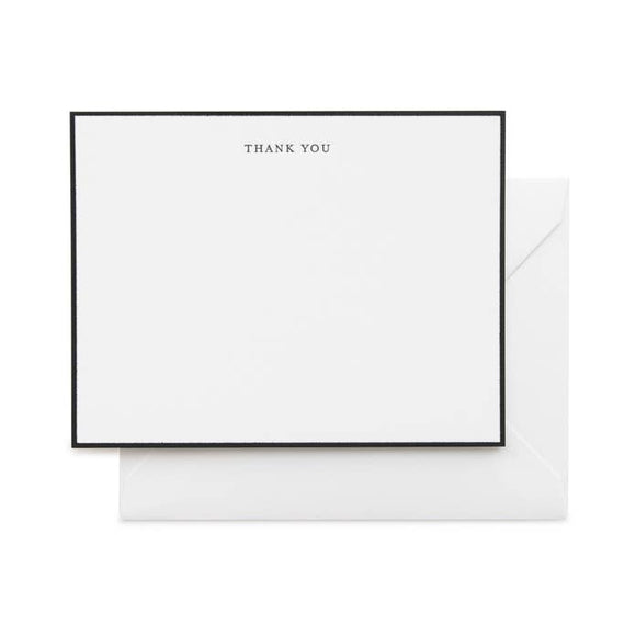 Black Simple Thank You Note Boxed Set