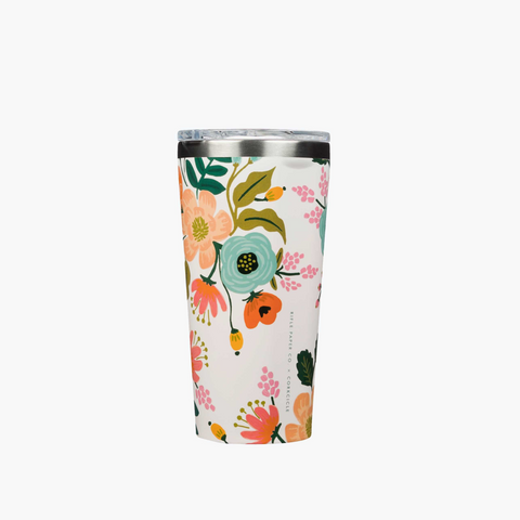 Corkcicle x Rifle Paper Tumbler - 16oz. Cream Lively Floral