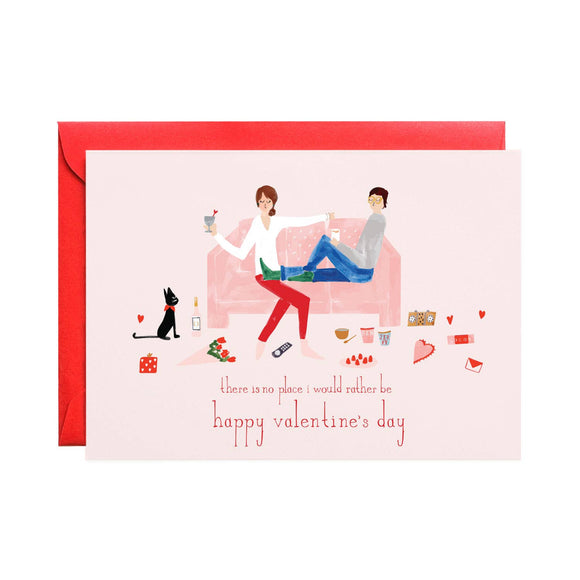 Pass the Chocolate Valentine Card