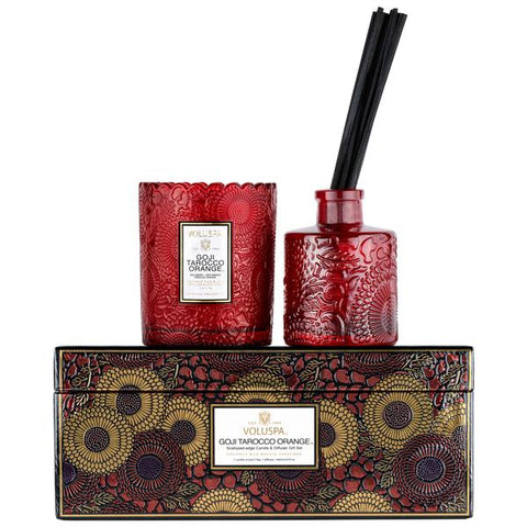 Goji Tarocco Orange Candle & Diffuser Gift Set