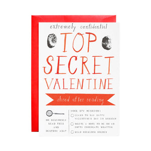 Top Secret Valentine Card