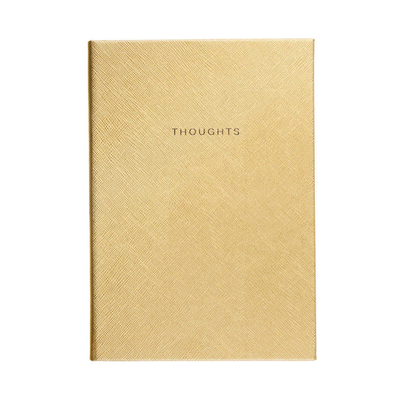Gold Saffiano 'Thoughts' 6x8 Style Journal