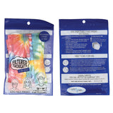 Tie-Dye Kid's Disposable 3-Layer Face Masks, Set of 7
