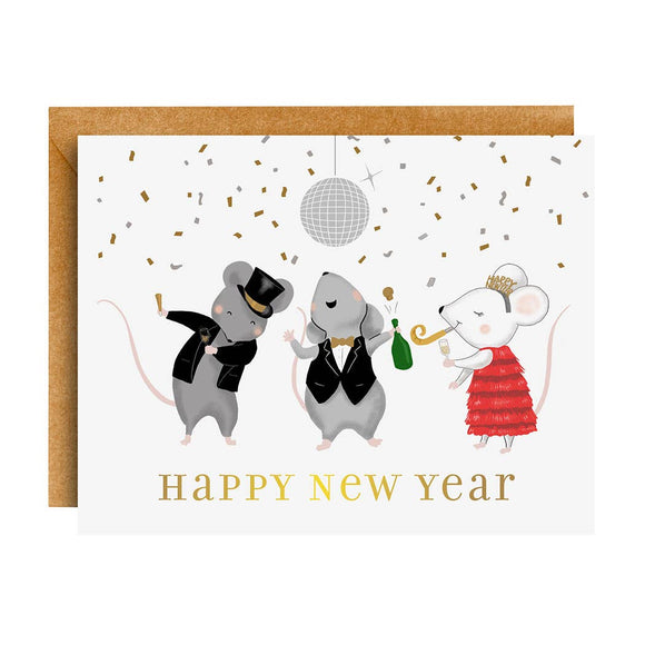 Mouse Party New Year Card