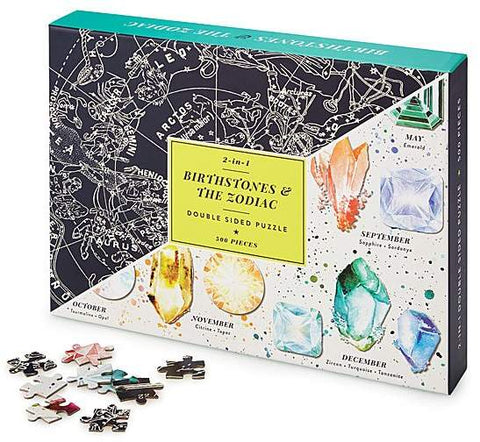 Birthstones & Zodiac Double Sided Puzzle