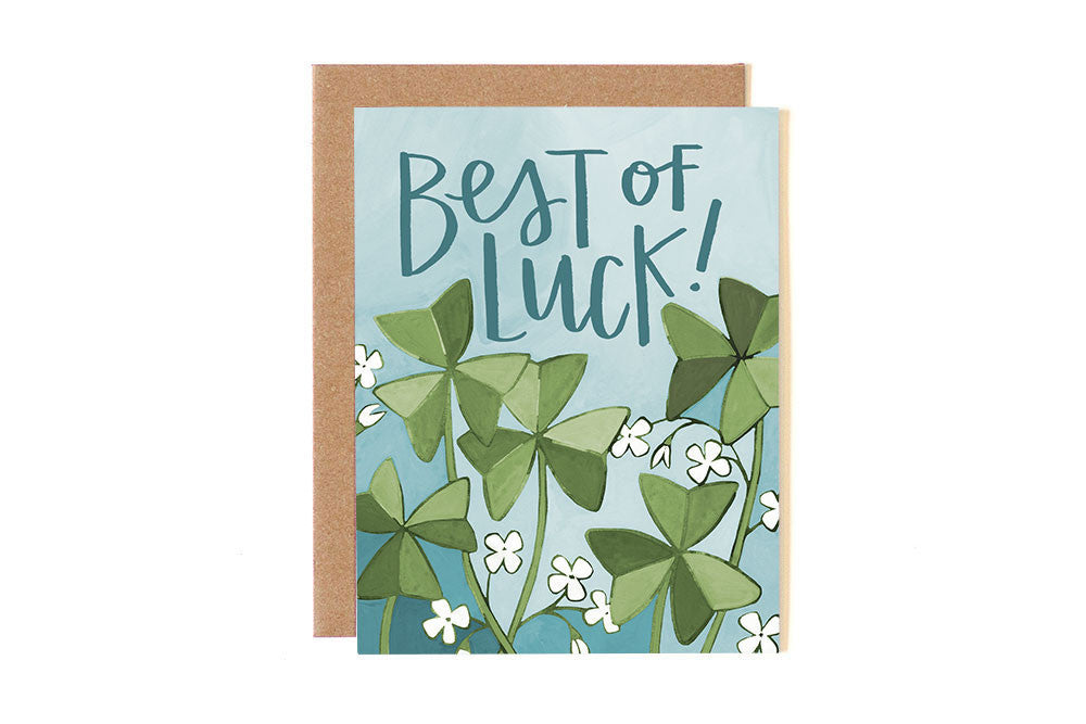 Best of Luck Clover Card