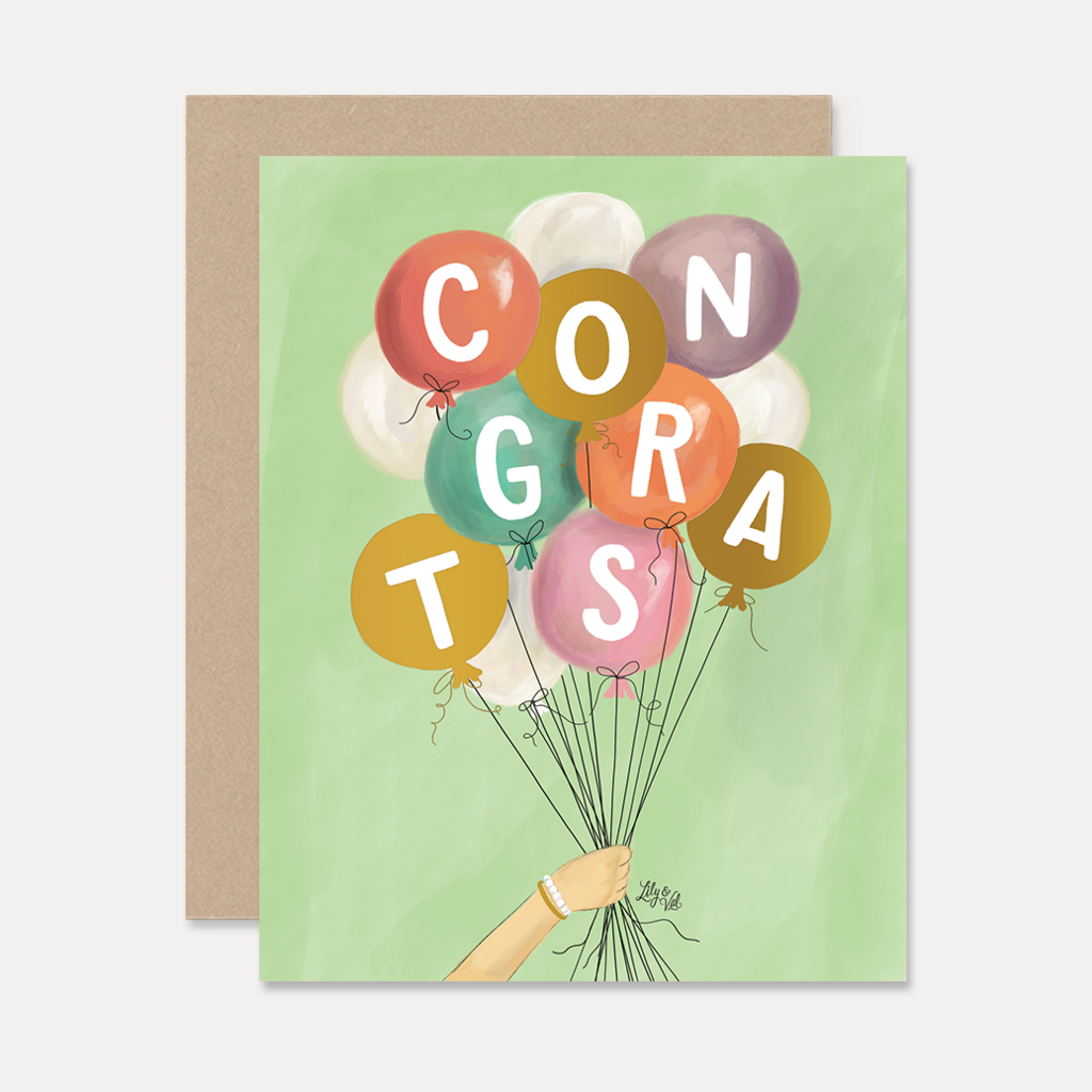 Congrats with Balloons Card