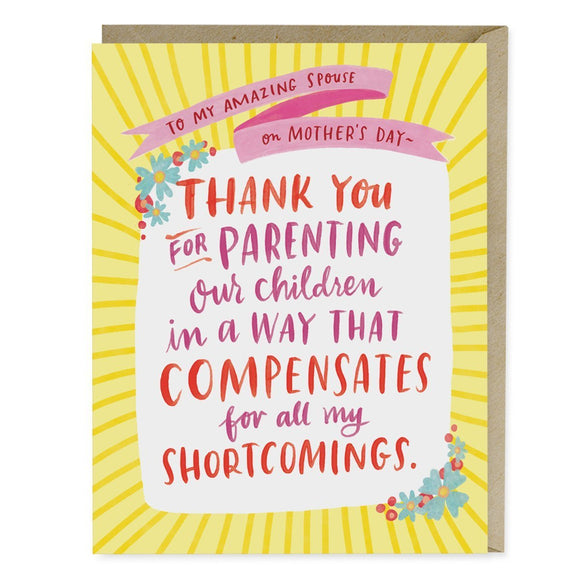 Shortcomings Mother's Day Card